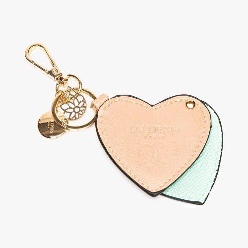 Porte-clés cœur gris Flambeur