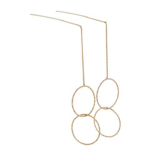 Boucles d'oreilles dorées chaine et anneaux Basiques