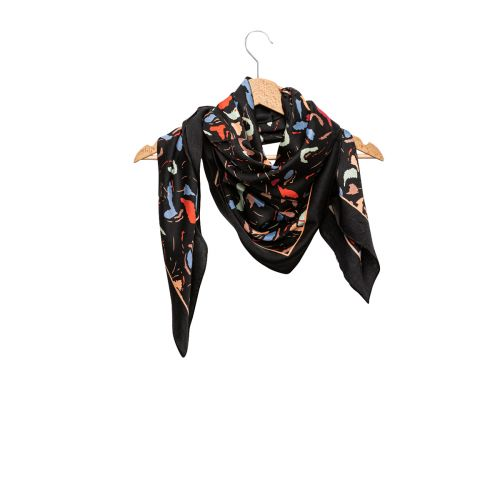 Foulard noir arty Graphico