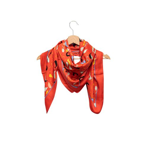 Foulard rouge arty Graphico