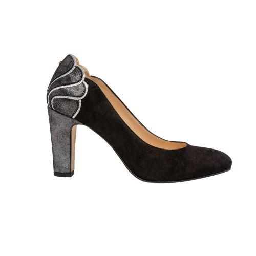 Escarpins noirs en cuir suedé G-Louise