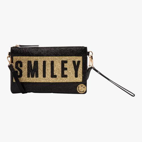 Pochette irisée noire G-Smiley Glitter