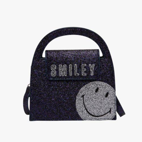 Sac bandoulière irisé bleu G-Smiley Glitter