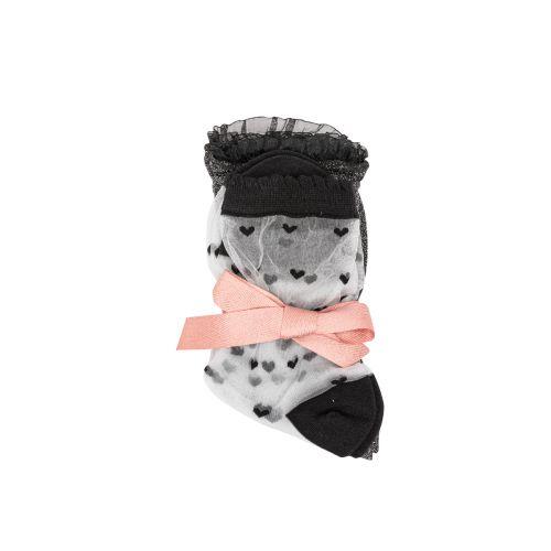 Lot de 2 paires de chaussettes noires/blanches G_SOCKS