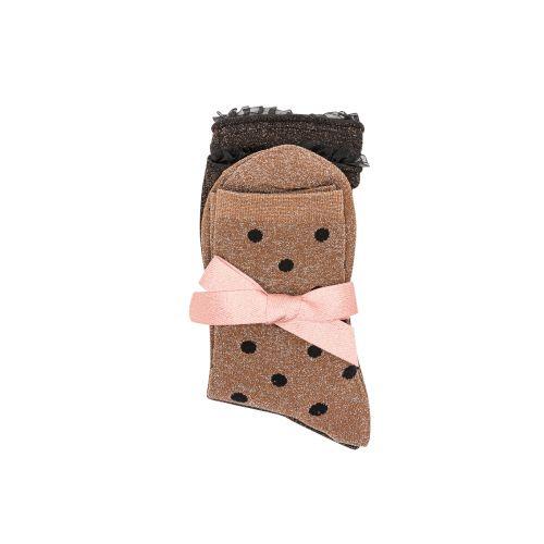 Lot de 2 paires de chaussettes noires/marron G_SOCKS