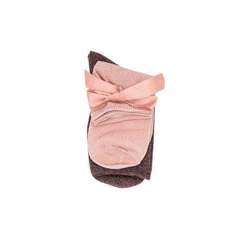 Lot de 2 paires de chaussettes noires/roses G_SOCKS