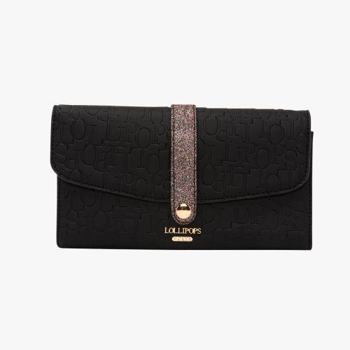 Porte chéquier noir Hélène