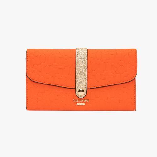 Porte chéquier orange Hélène