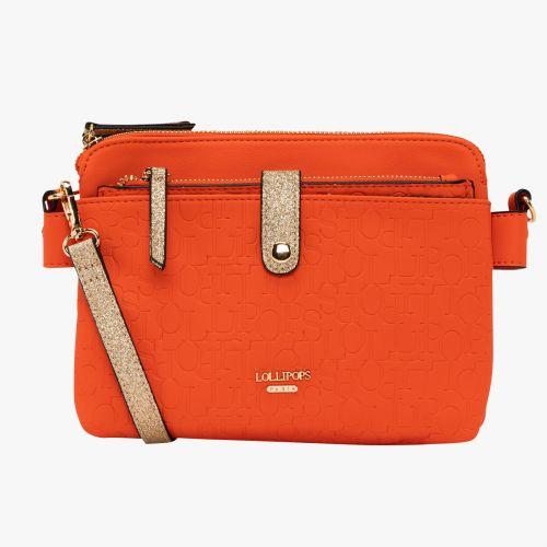 Sac multipocket orange Hélène