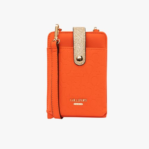 Pochette orange pour smartphone Hélène