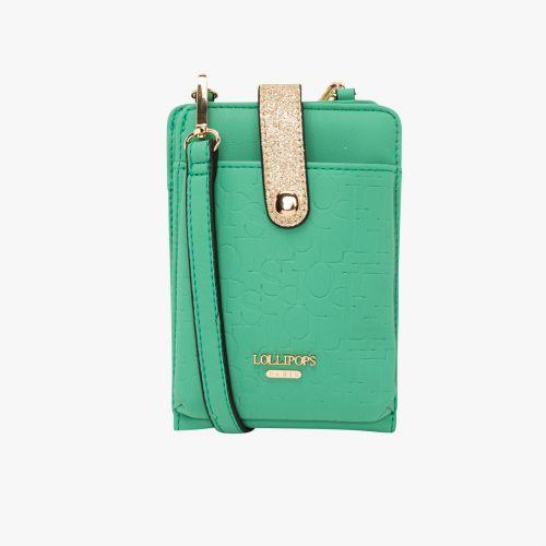 Pochette vert pour smartphone Hélène