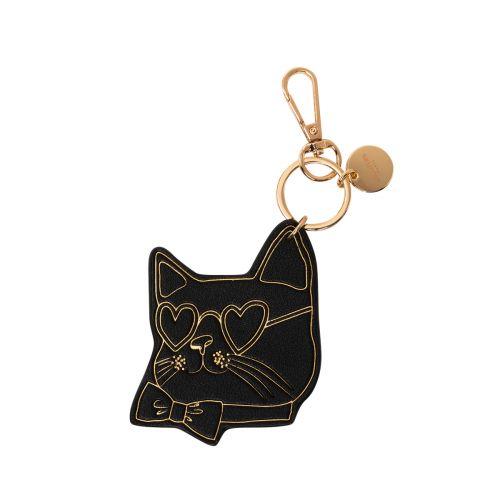 Porte-clés tête de chat noir Hicare