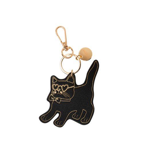 Porte-clés chat noir Hicare