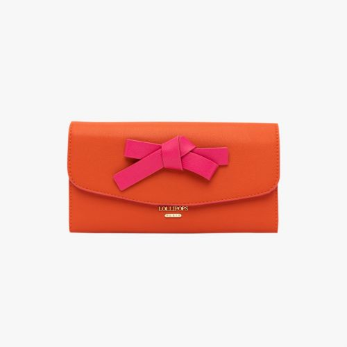 Porte-chèquier orange Horizon