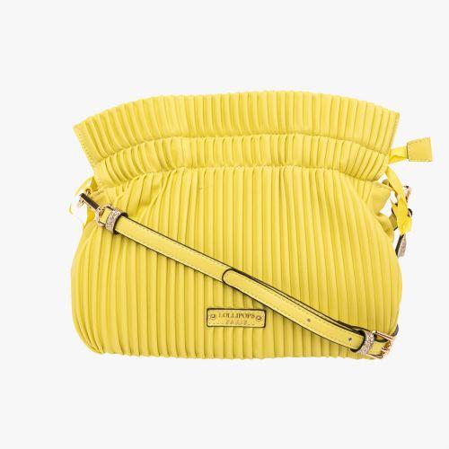 Sac bandoulière plissé jaune Helle
