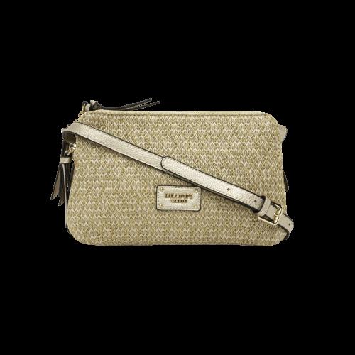 Sac multipocket beige en textile H-Giulia