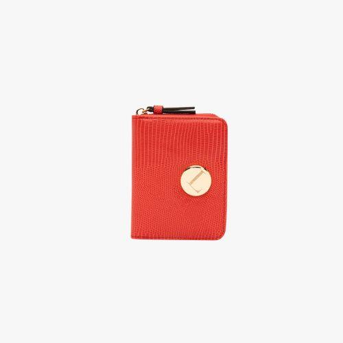 Porte-monnaie lézard rouge Hissy