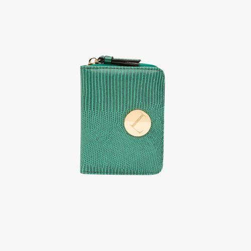 Porte-monnaie lézard vert Hissy