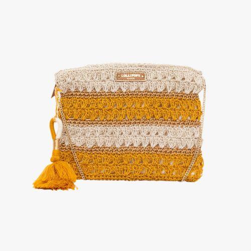 Pochette en crochet jaune Hadele