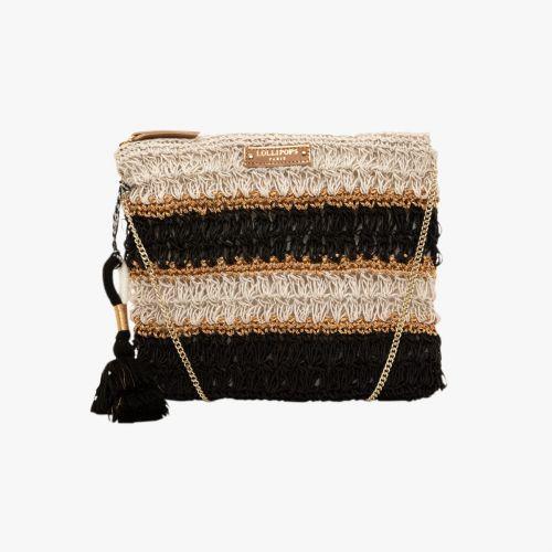 Pochette en crochet noir Hadele