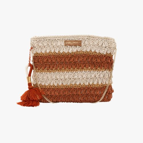 Pochette en crochet orange Hadele