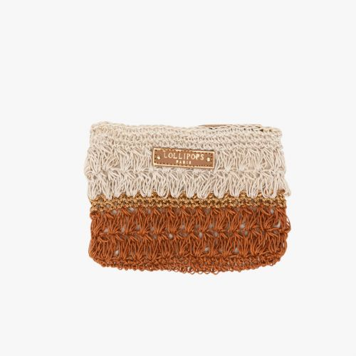 Porte-monnaie en crochet orange Hadele