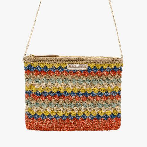 Pochette en crochet multicolore Halize