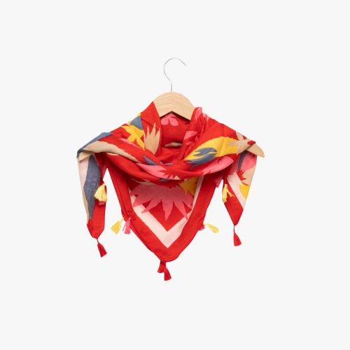 Echarpe rouge tropicale Hayley