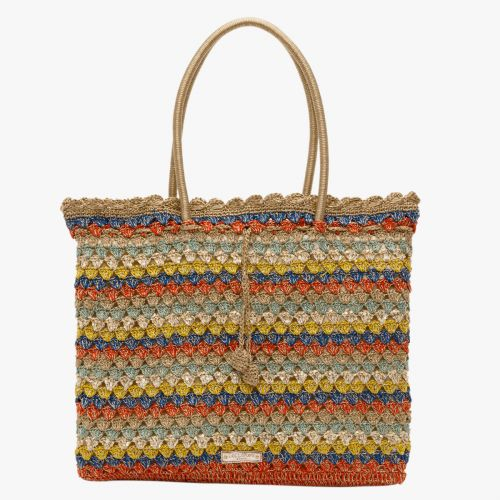 Cabas en crochet multicolore Halize