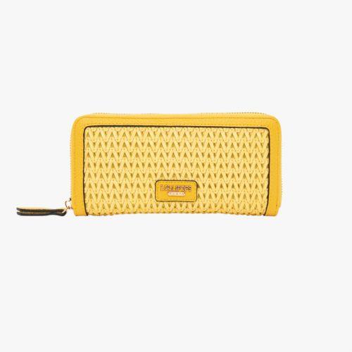 Portefeuille jaune H-Ginza