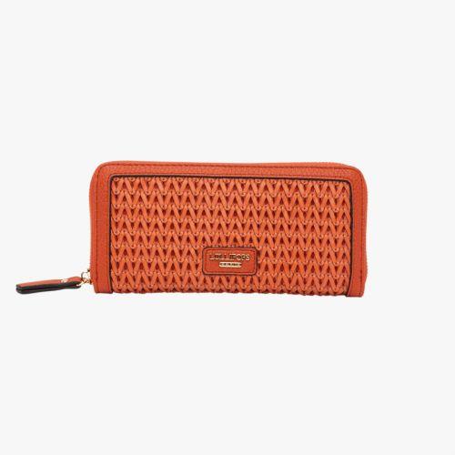 Portefeuille orange H-Ginza