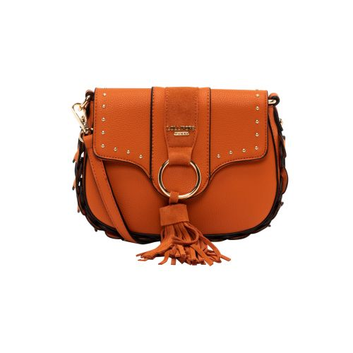 Petit sac bandoulière orange Hortensia