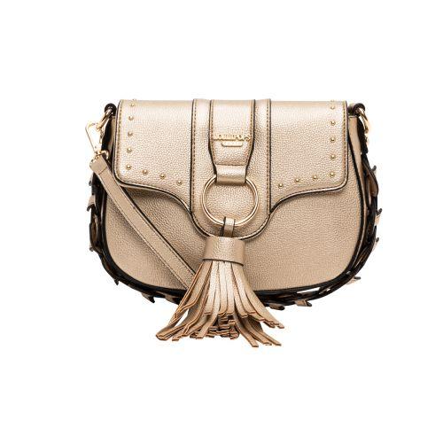 Petit sac bandoulière doré Hortensia
