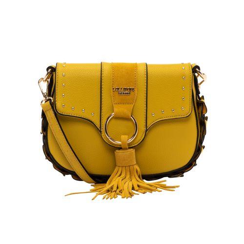 Petit sac bandoulière jaune Hortensia