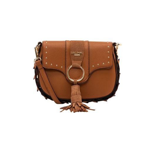 Petit sac bandoulière camel Hortensia