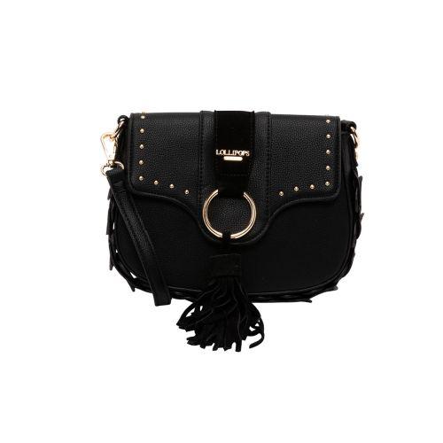 Petit sac bandoulière noir Hortensia