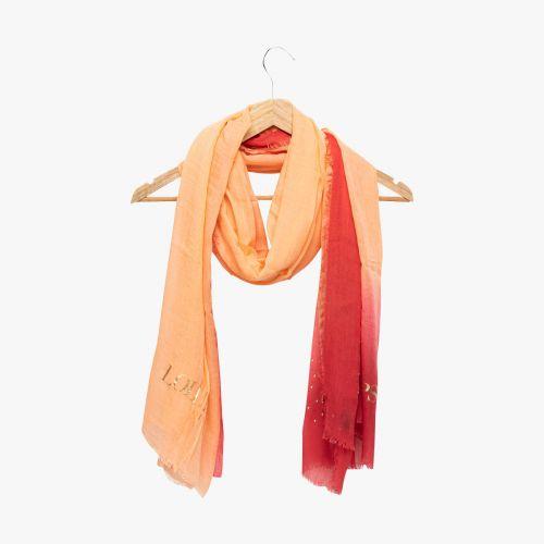 Echarpe corail tie and dye