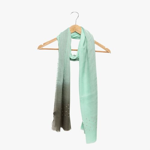 Echarpe verte tie and dye