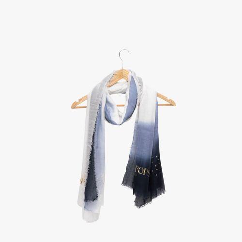 Echarpe bleu tie and dye