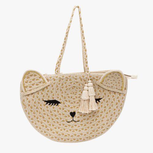 Cabas chat en textile Hecat