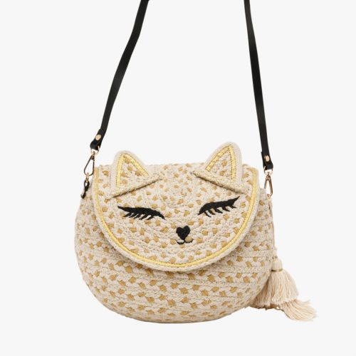 Sac bandoulière chat en textile Hecat