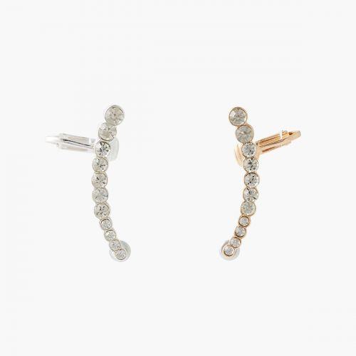 Set de 2 bijoux d'oreilles strass