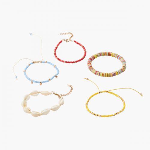 Set de 5 bracelets multicolores
