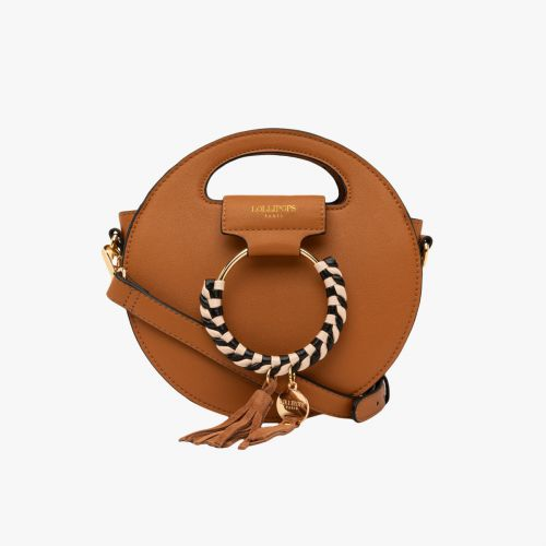 Petit sac rond camel H-Eropi