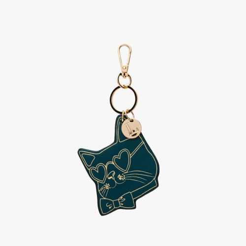 Porte-clés chat vert Icare
