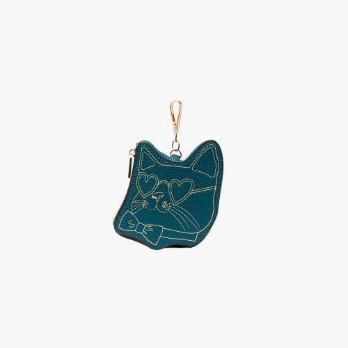 Porte monnaie/tote-bag vert Icare