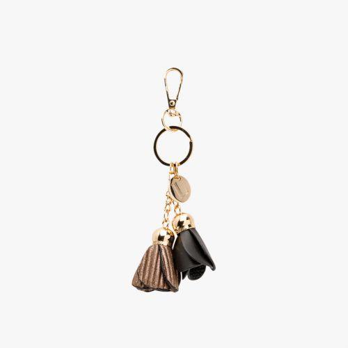 Porte-clés fleurs noir Isla