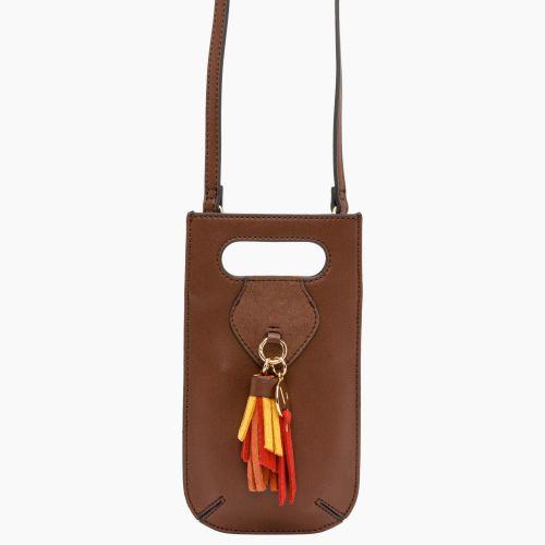 Pochette portable marron Isis