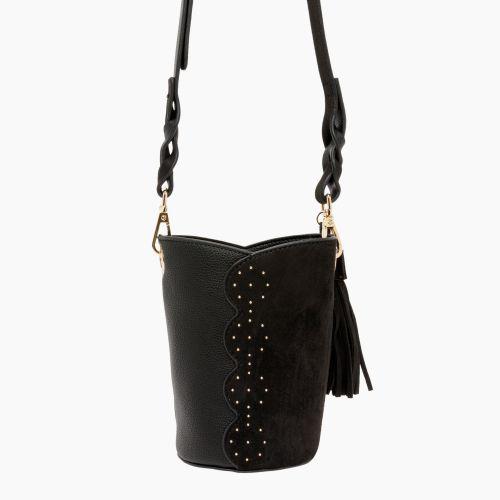 Petit sac seau noir à clous Inox