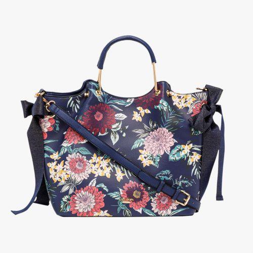 Cabas bleu I-Damma Flower